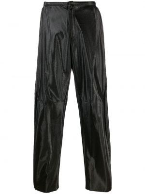 Черные прямые брюки с поясом на пуговицах новогодние Walter Van Beirendonck Pre-owned