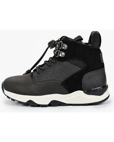 Ботинки замшевые черные котофей