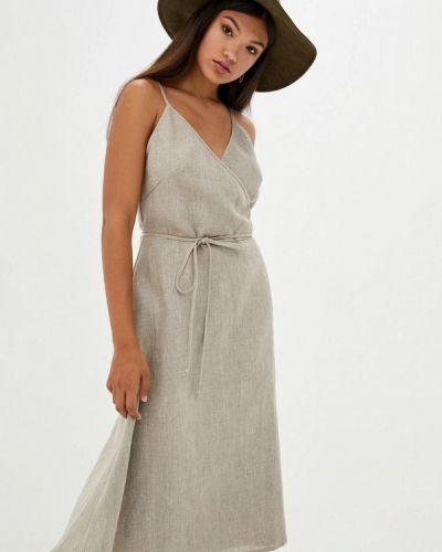 Серое платье с запахом Прованс