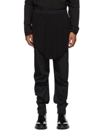 Черная юбка с карманами из поплина Julius