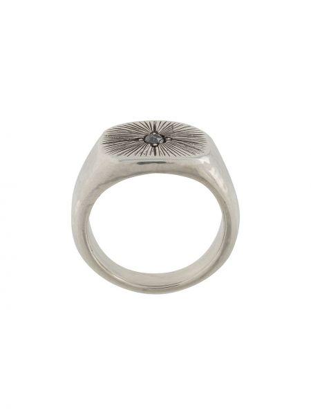 Z rombem srebro pierścień z diamentem Henson
