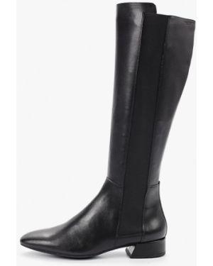 Ботинки на каблуке осенние черные Vagabond