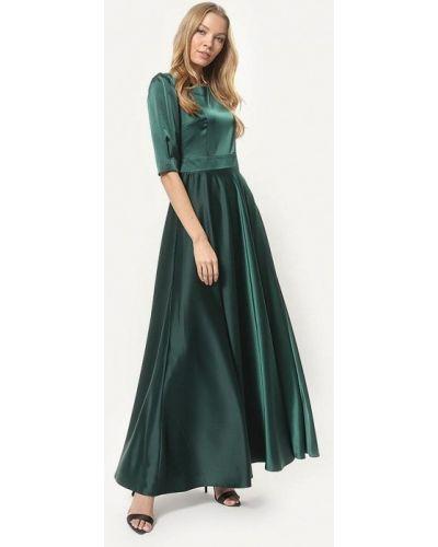 Вечернее платье осеннее зеленый Tutto Bene