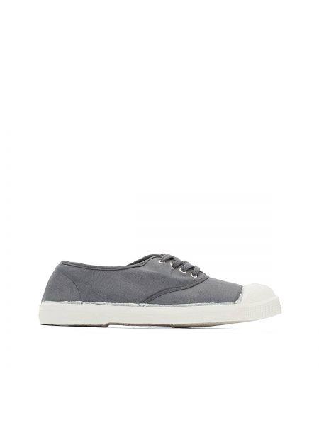 Серые кроссовки на шнуровке Bensimon
