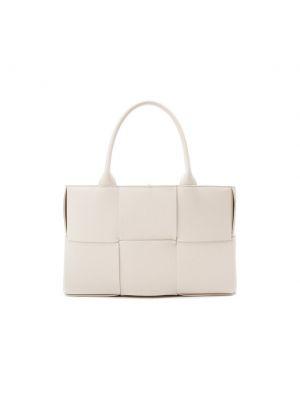 Белая сумка шоппер на молнии Bottega Veneta