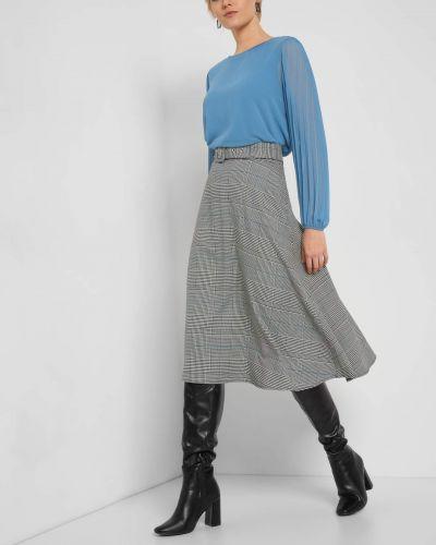 Z paskiem czarny spódnica midi z wiskozy Orsay