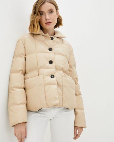 Кожаная куртка - бежевая Fresh Cotton