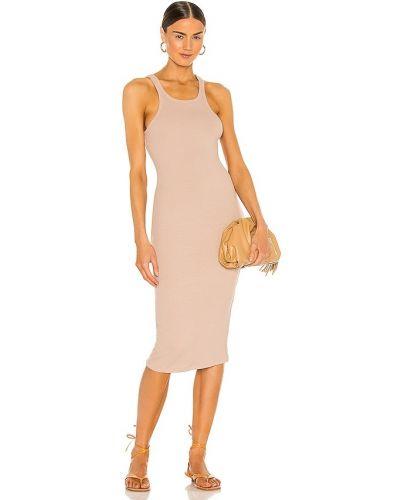 Трикотажное платье миди для полных с подкладкой Lna