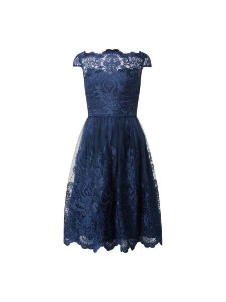Sukienka koktajlowa tiulowa - niebieska Chi Chi London