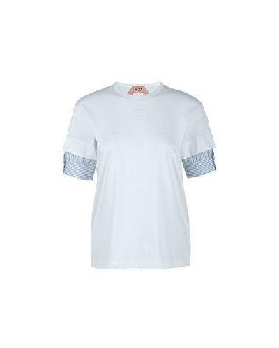 Хлопковая футболка - белая No.21