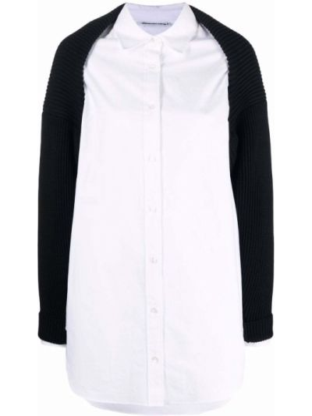Белая рубашка длинная Alexanderwang.t