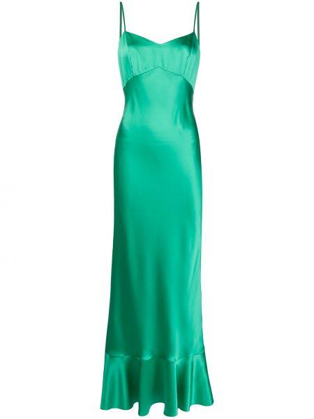 Платье миди на молнии приталенное Saloni