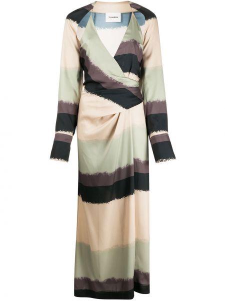Платье макси длинное - черное Nanushka