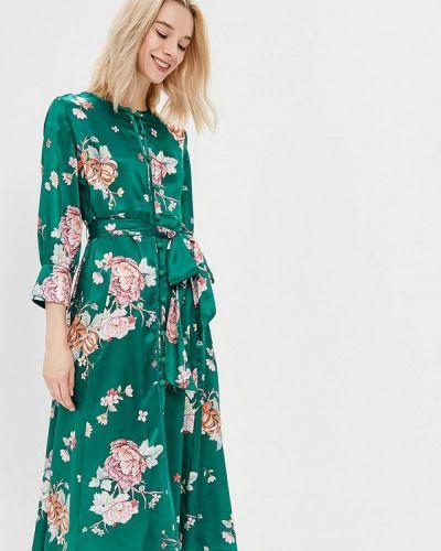 Платье весеннее зеленый Zeza