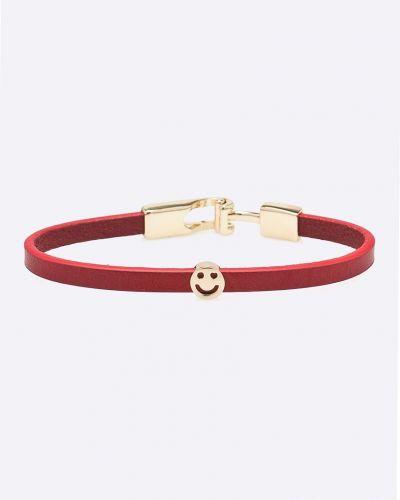Кожаный браслет красный из искусственной кожи Answear
