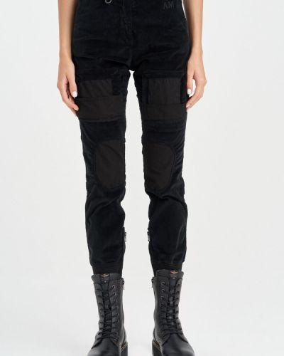 Черные брюки с накладными карманами Aeronautica Militare
