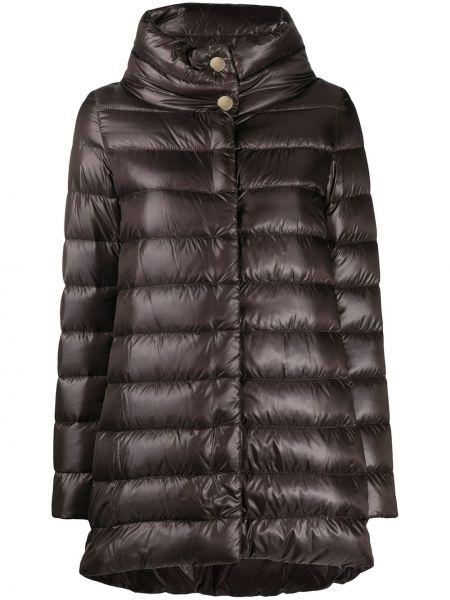 Pikowana brązowy bawełna bawełna pikowana płaszcz Herno