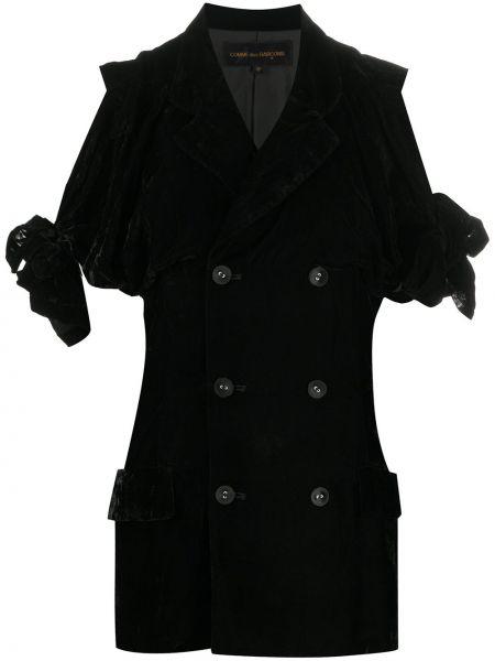 Бархатный пиджак - черный Comme Des Garçons Pre-owned