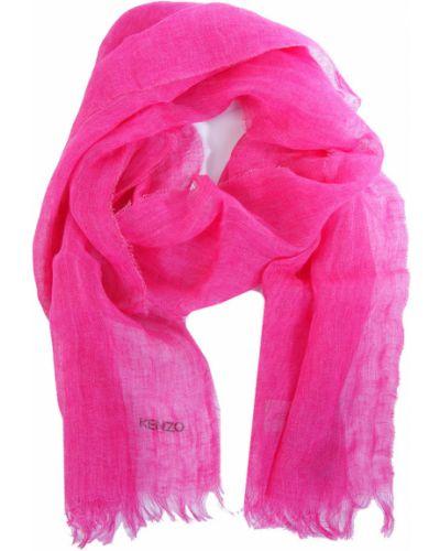 Шарф весенний розовый Kenzo