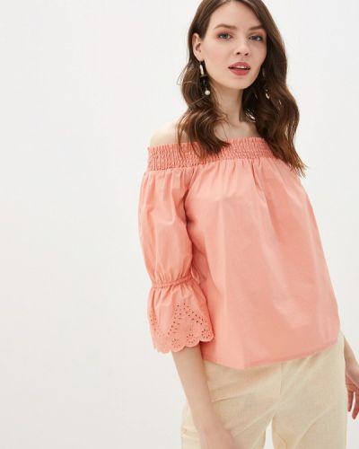 Блузка с открытыми плечами розовая Tom Tailor Denim