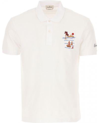 Biały t-shirt bawełniany krótki rękaw Brooksfield