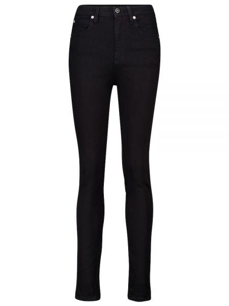 Хлопковые зауженные черные джинсы-скинни Victoria, Victoria Beckham