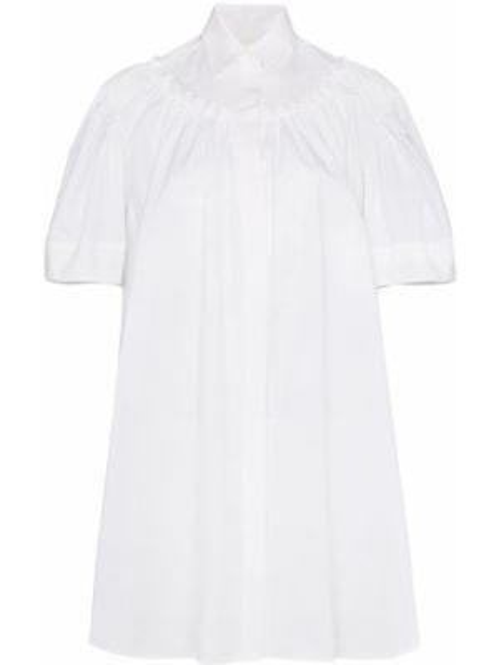 Biała klasyczna sukienka mini z falbanami Shushu/tong