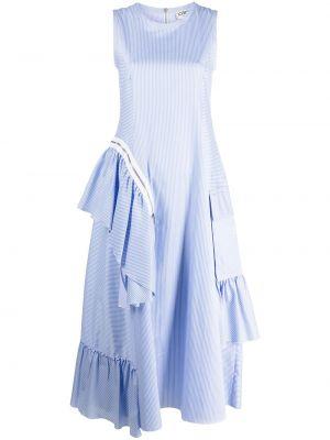 Хлопковое белое платье без рукавов Iceberg