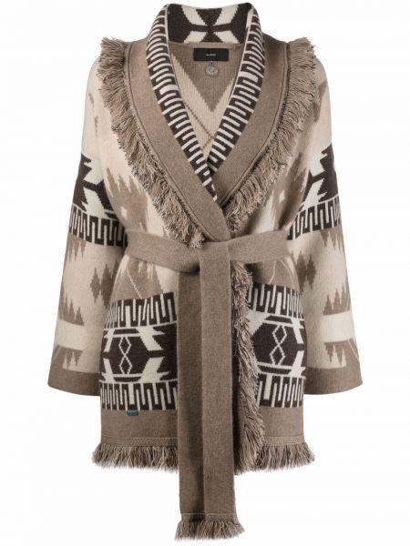 Бежевое кашемировое пальто Alanui