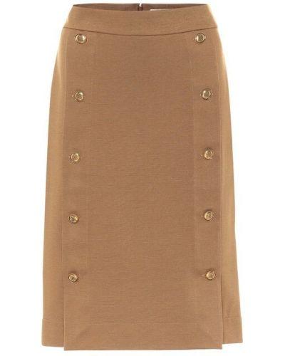 Włókienniczy brązowy spódnica midi rozciągać Givenchy