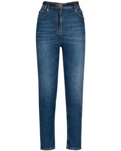 Джинсовые зауженные джинсы - синие Balmain
