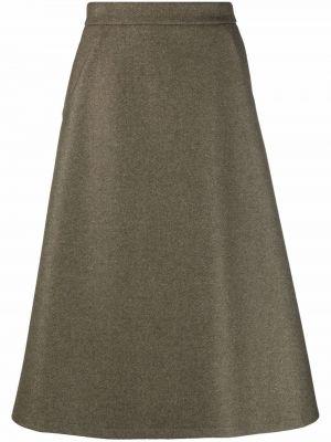 Шерстяная юбка - зеленая SociÉtÉ Anonyme