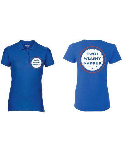 T-shirt z printem - biała Gildan