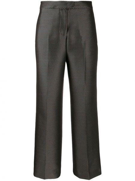 Укороченные брюки расклешенные свободные Pt01