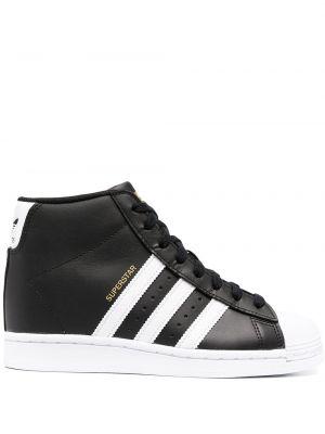 Włókienniczy biały ażurowy top na sznurowadłach Adidas