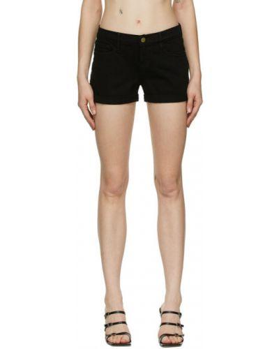 Черные джинсовые шорты с карманами с манжетами Frame
