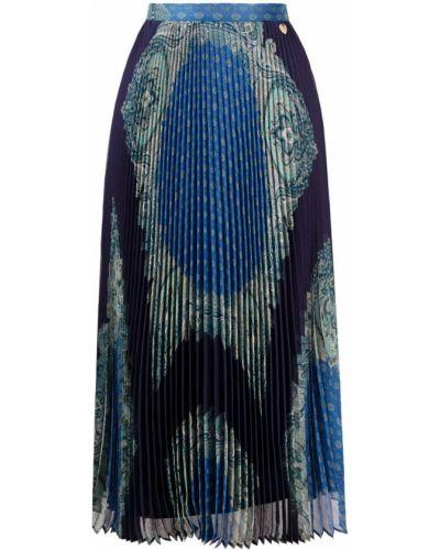 Плиссированная юбка - синяя Twinset