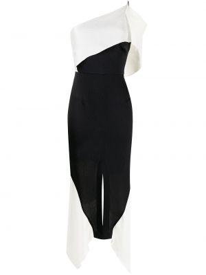 Czarna sukienka asymetryczna z jedwabiu Roland Mouret