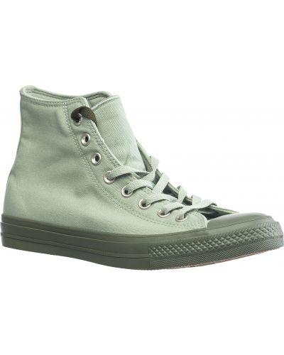 Зеленые текстильные кеды с подкладкой Converse