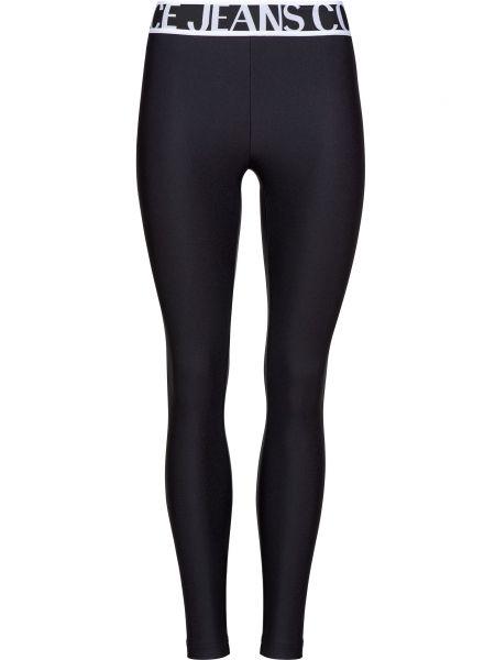 Черные леггинсы Versace Jeans Couture