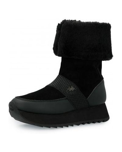 Высокие кроссовки утепленные - черные Kappa