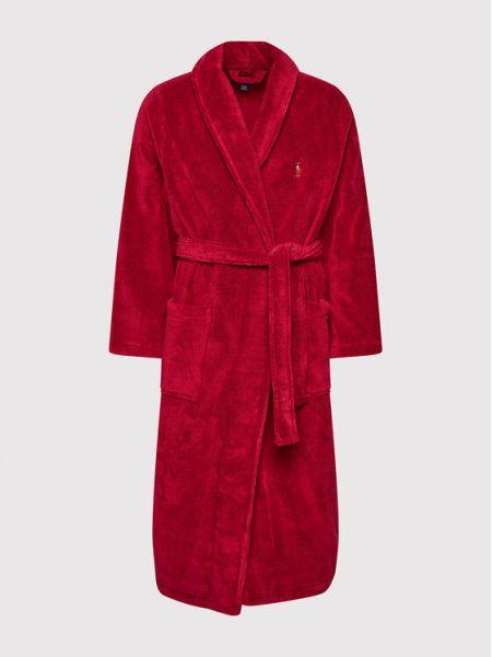 Szlafrok - bordowy Polo Ralph Lauren