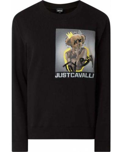 Czarna bluza bawełniana z printem Just Cavalli
