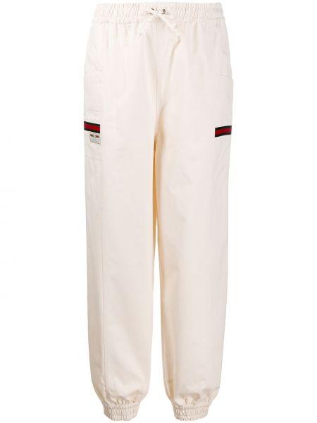 Szerokie spodnie sportowe z kieszeniami Gucci
