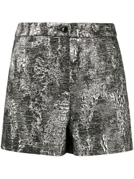 Шерстяные с завышенной талией шорты на молнии Boutique Moschino