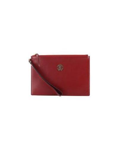 Клатч-конверт на молнии розовый Roberto Cavalli