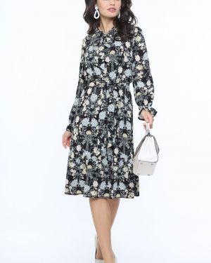 Платье с цветочным принтом шифоновое Dstrend