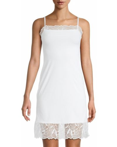 Biała koszula nocna koronkowa bez rękawów Commando