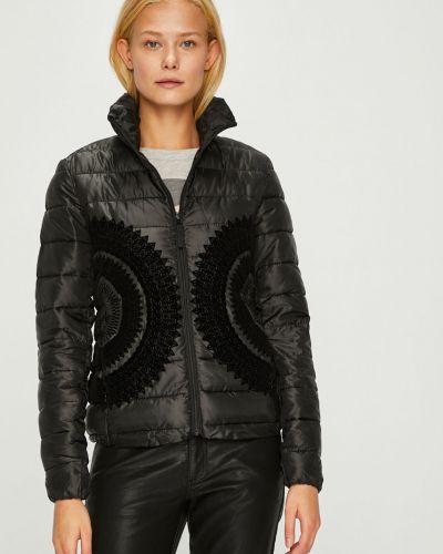 Утепленная куртка с карманами черная Desigual