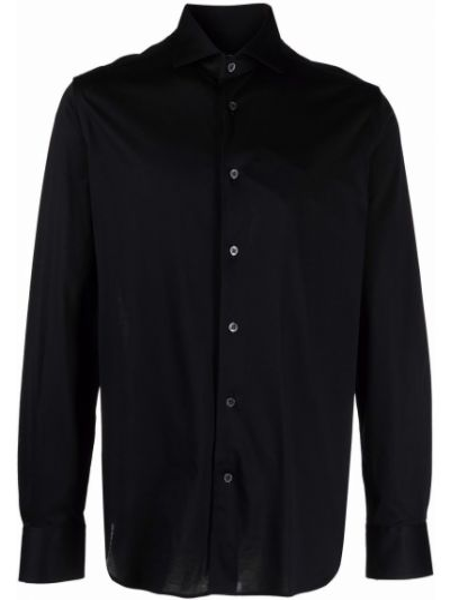 Черная рубашка с манжетами Corneliani